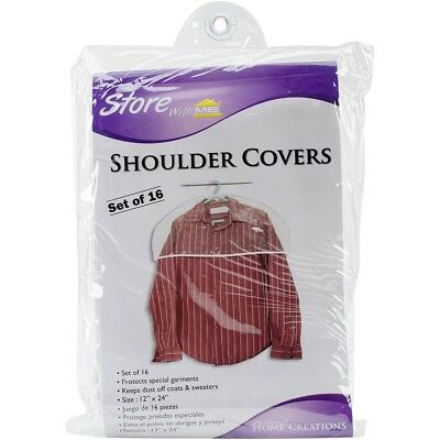 Clear Shoulder Closet Garment Cover Plastic Hanger Protector Fighting Dust oS