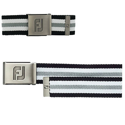 FootJoy Mens Canvas Golf Webbing Belt - New Fashion One Size Fits All Buckle FJ