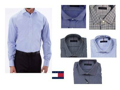 d7ddcd87 Tommy Hilfiger Mens Dress Shirt Long Sleeve Reguar Fit Strech pick a color  /size