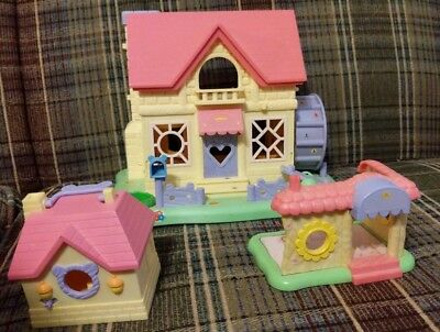 Hamtaro Ham-Ham House & more-see pictures -as is-EPOCH CO.LTD.