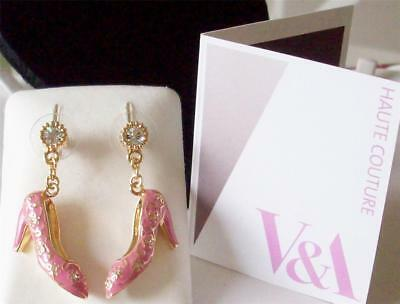 Sale The Victoria And Albert Museum London, Pink Shoes Drop Earrings Rrp £45.