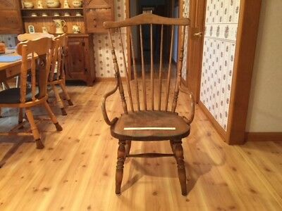 BEAUTIFUL FAN BACK WINDSOR CHAIR {EARLY-MID-1800s} NEW ENGLAND-PERFECT CONDITION