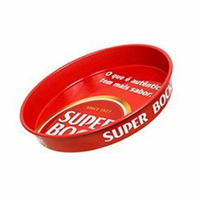 """NEW SUPER BOCK PORTUGESE BEER Ale Bar Round Metal Serving Tray 14"""" X 2"""""""