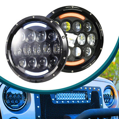 7inch LED Headlamp Headlight Bulb w/Halo DRL Update fit Peterbilt 359 379 2pack