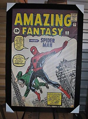 Amazing Fantasy Spider-man Large Framed textured poster Marvel Comics Avengers