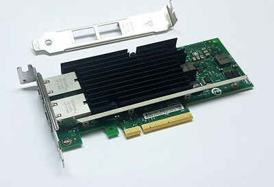 SUN / Intel X540-T2 Gigabit 10GBe 10Gbit RJ45 Dual Port Converged Server Adapter