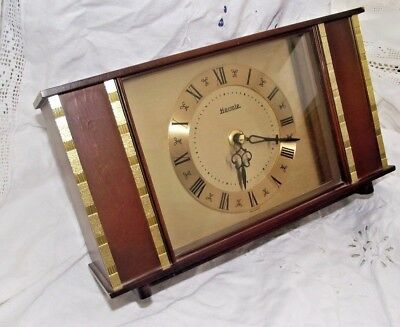 Hermle Mantel Clock C 1960s Battery Operated Working