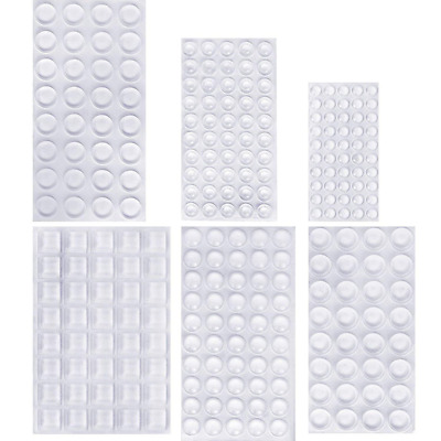 bb1f2bbc8f6 254 PIECES CLEAR Rubber Feet Bumper Pads Adhesive Transparent Buffer ...