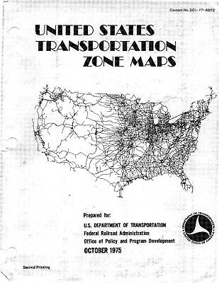 United States Transportation Zone Maps 1975