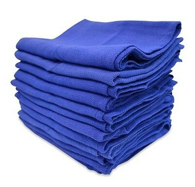60 blue cleaning LINT FREE towels Huck detailing glass cleaning WIPING CLOTHS