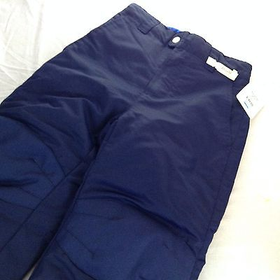 NWT Faded Glory Unisex Boys Girls Snow Pants Navy Blue Fast Shipping         2-5