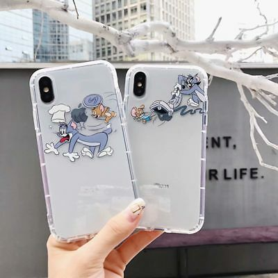 TPU Soft Shockproof Cartoon Cat Phone Case Cover For iPhone XS Mas XR 6 7 8 plus