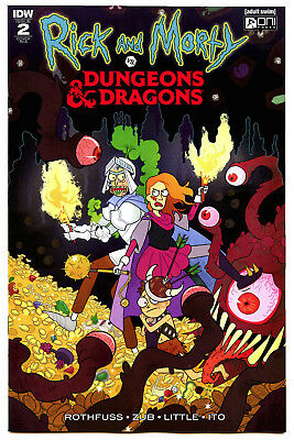 Rick And Morty Vs. Dungeons And Dragons #2 (2018) IDW NM/NM- 1:10 Scott Variant