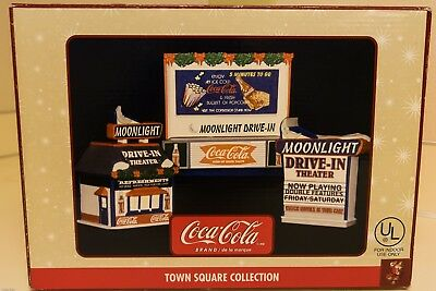 Coca-Cola Town Square Moonlight Drive-In Theater 3-Piece Collector Set  - NEW