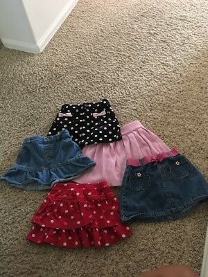 Toddler girls 3t lot of 5 Skirts !