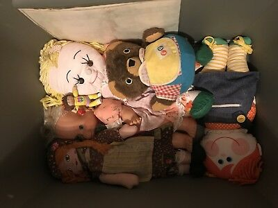 Vintage Doll Lot from the 1970s or earlier. Includes nine dolls.
