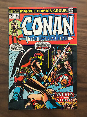 FN- to FN 1973 Conan The Barbarian # 23 FN Marvel Comic Book 1st App Red Sonja
