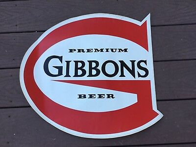 Vintage Gibbons Beer Wilkes Barre PA Lion Brewery Large Sticker Decal Unused