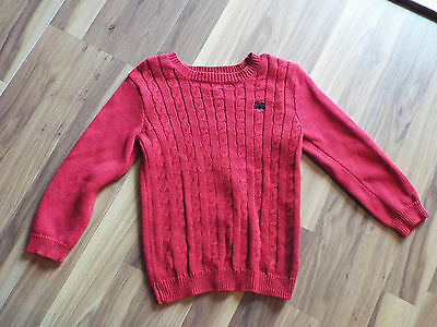 Boys Crazy 8 Red Long Sleeve Sweater Size 3 Years  B9