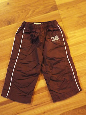 Boys The Children's Place Brown Athletic Pants Joggers Drawstrings 12 mths  B9