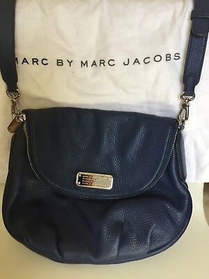 MARC BY MARC Jacobs Natasha Leather Crossbody Bag - Blue - NWOT ...