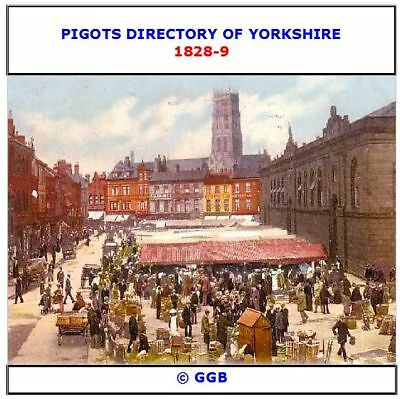 Pigots Directory Of Yorkshire 1828-9 Cd Rom