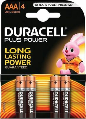 4x Duracell AAA Batteries Power Alkaline Batteries LR03, MN2400