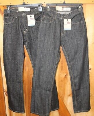 Lot of 2 ~ Levi's 505 Jeans ~ Straight Fit ~ 3D Black ~ Boys 14 Slim 25 x 27