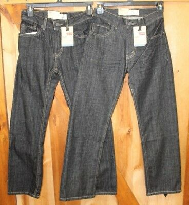 Lot of 2 ~ Levi's 505 Jeans ~ Straight Fit ~ 3D Black ~ Boys 12 Slim 24 x 26