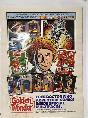 Marvel TRANSFORMERS Weekly Comic Magazine w DOCTOR WHO Golden Wonder Bread Offer