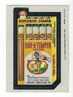 1975 Topps Wacky Packages 12th Series 12 HAV-A-TEMPER CIGARS ex-