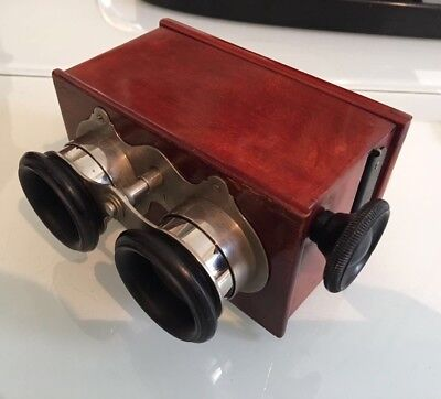 VISIONNEUSE VERASCOPE RICHARD STEREOSCOPE 45x107 PLAQUES VERRE STEREOVIEWER