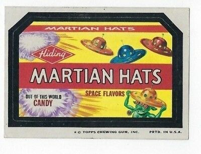 1975 Topps Wacky Packages 12th Series 12 MARTIAN HATS CANDY ex