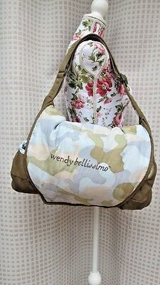 WENDY BELLISSIMO  Shopping Cart Cover High Chair Blue Green Camouflage - EUC