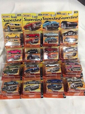 Matchbox Superfast GMC Ford Chevrolet Plymouth + 16 variations #2 to #39 Choice