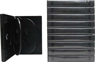 (10) DV6R27BK 6-Capacity Replacement DVD Boxes Multi Set Thick Chubby Disc 27mm