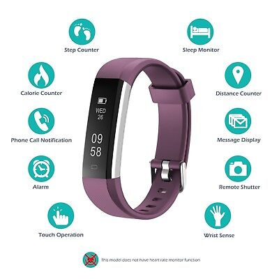 Fitness Tracker Wristband Heart Rate Fitbit Smart Watch Sports Activity Monitor