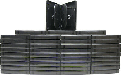 (50) DV6R27BK 6-Capacity Replacement DVD Boxes Multi Set Thick Chubby Disc 27mm
