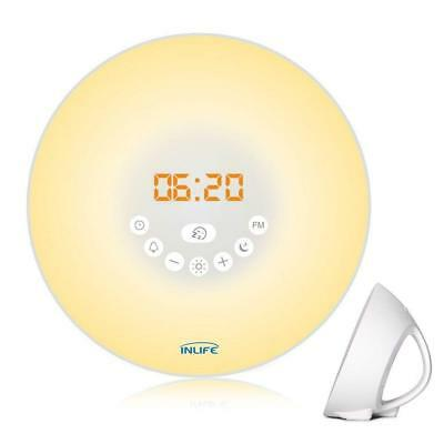 Wake Up Light, INLIFE Alarm Clock Sunrise Simulation Fading Night Light for Bedr