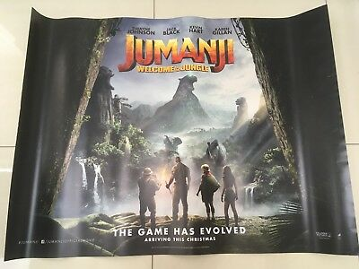 jumanji quad movie poster d/s 30x40 in mint condition