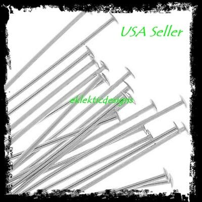 30mm 25pcs .7mm 304 Surgical Stainless Steel Headpins Flat Head Pins Findings