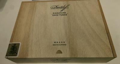 Davidoff Signature 2000 Tubos Empty Wooden Cigar Box