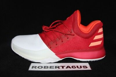 Adidas James Harden Vol 1 Boost Scarlet Red White  Rockets Basketball BW0547