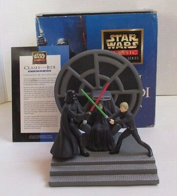 Star Wars Classic Collectors Series ROTJ CLASH OF THE JEDI DIORAMA applause Used