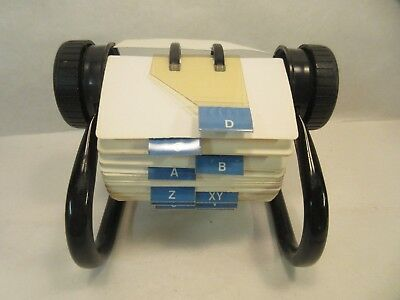 Rolodex Open Rotary Business Card File with 2 by 4 inch Cards Index File Vintage