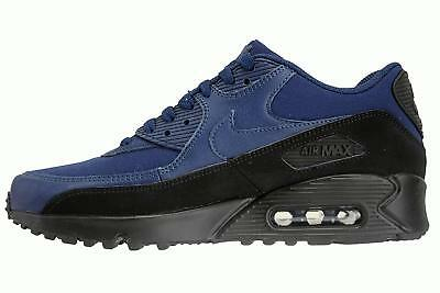 cheaper 9bbf1 368ae Men s Nike Air Max 90 Essential Running Shoes Black Navy NIB 8-12 AJ1285
