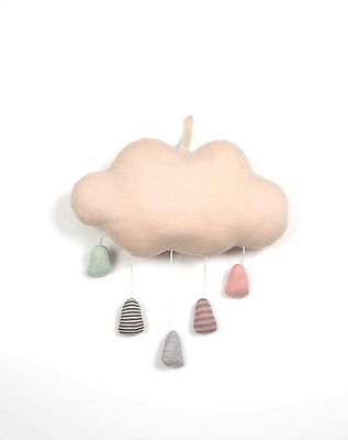 Rain Cloud Girls Pastel Musical Mobile Baby Nursery Decor