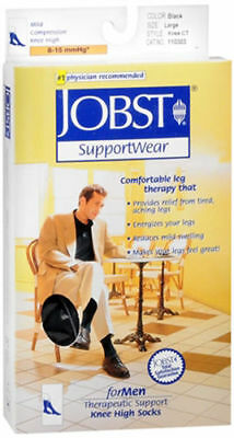 Men's Jobst Supportwear Mild Compression Black Support socks size Large