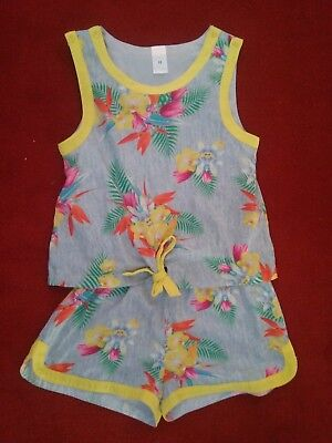 Girl's size 12 Target floral jumpsuit. Like New