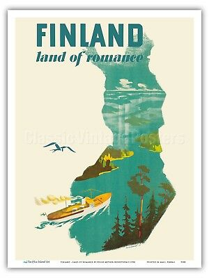 TX249 Vintage 1950/'s To Finland With Me Travel Poster Re-Print A1//A2//A3//A4